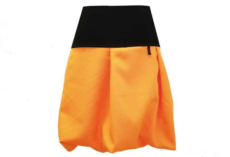 dunkle design Ballonrock »51cm Braun Camel Orange Gelb« elastischer Bund