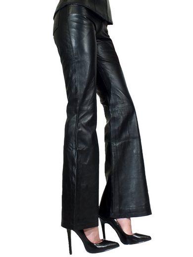 Fetish-Design Lederhose »Lederhose Bootcut Schwarz Nappaleder Five-Pocket«