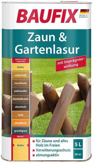 Baufix Holzschutzlasur, 5 Liter, braun