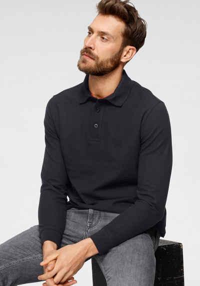 OTTO products Langarm-Poloshirt aus zertifizierter Bio-Baumwolle