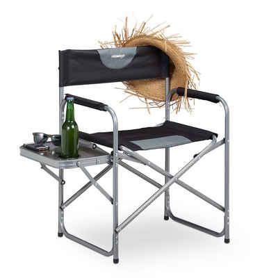 relaxdays Regiestuhl »Regiestuhl mit Tisch«