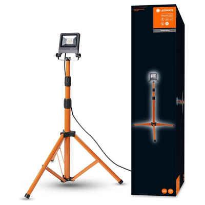 Ledvance LED Aufbaustrahler »LED Strahler in Orange und Dunkelgrau 20W 1700lm«, Außenstrahler
