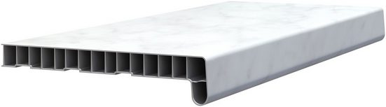 BAUKULIT Fensterbank »Muster-Set«, Dekor weiß/Marmor
