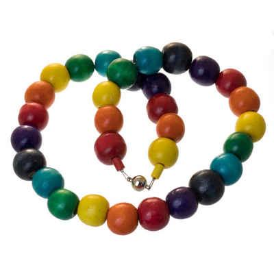 Bella Carina Perlenkette »Chakra Kette mit Holzperlen Regenbogen«, Magnetverschluss