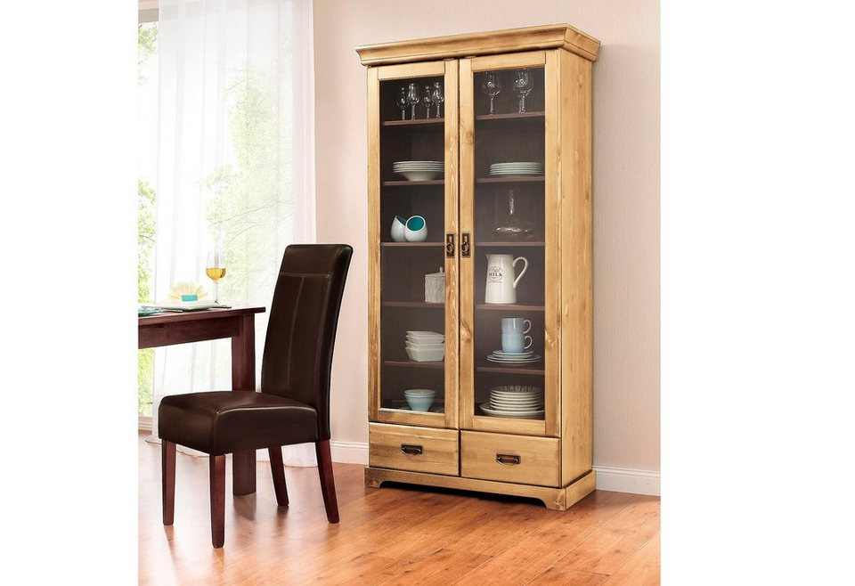 vitrine home affaire h he 180 cm online kaufen otto. Black Bedroom Furniture Sets. Home Design Ideas