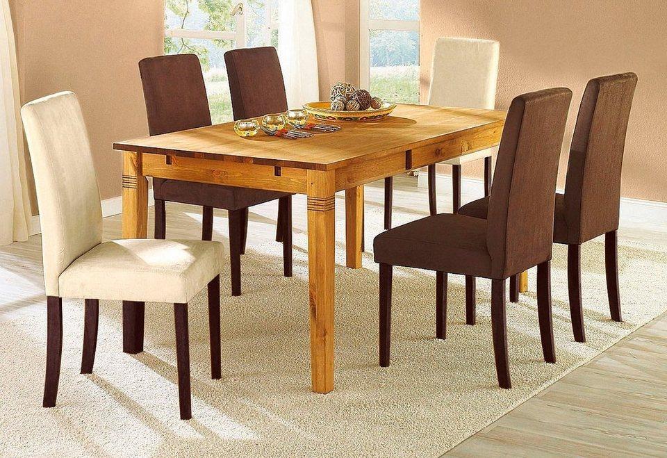 Stühle, Home affaire, »Roko« Microfaser (2er, 4er, 6er Set) in beige