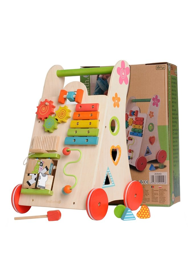 Spiel- und Lauflernwagen, EverEarth®, Lauflern-Spielzeug in natur