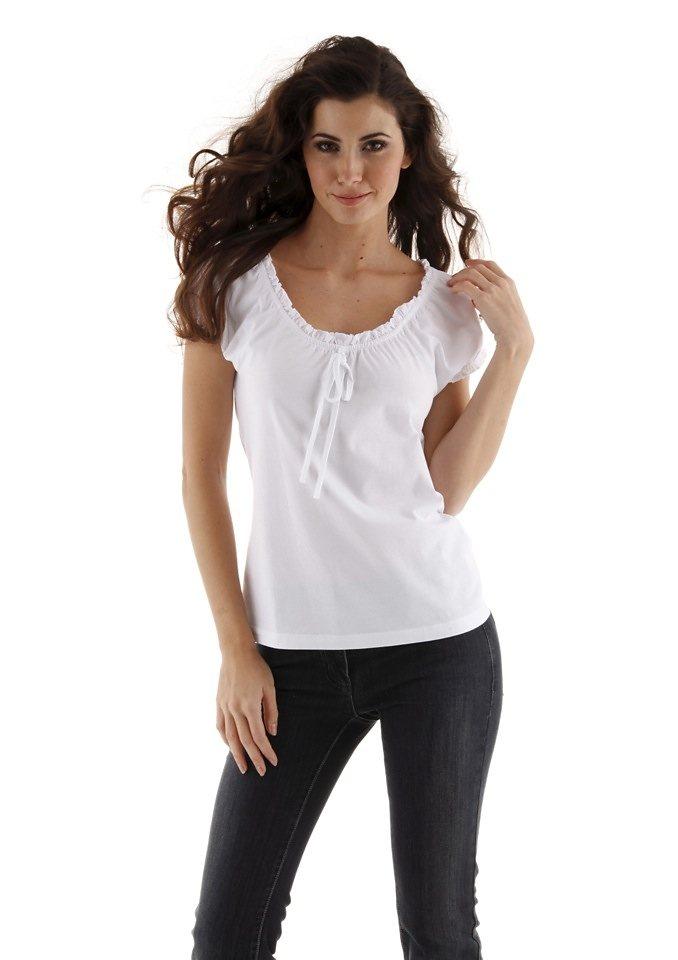 Cheer Rundhalsshirt in weiß