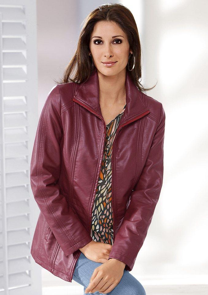 Classic Basics Jacke mit modellierenden Wiener Nähten in rot