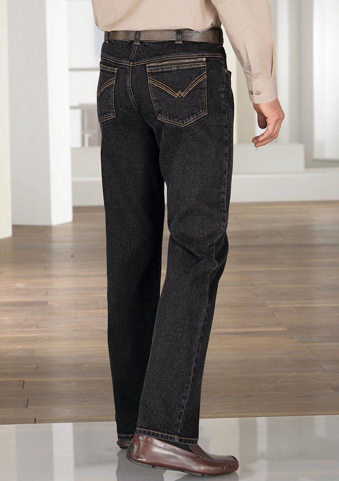Classic Basics Jeans mit komfortablem Dehnbund in black-denim
