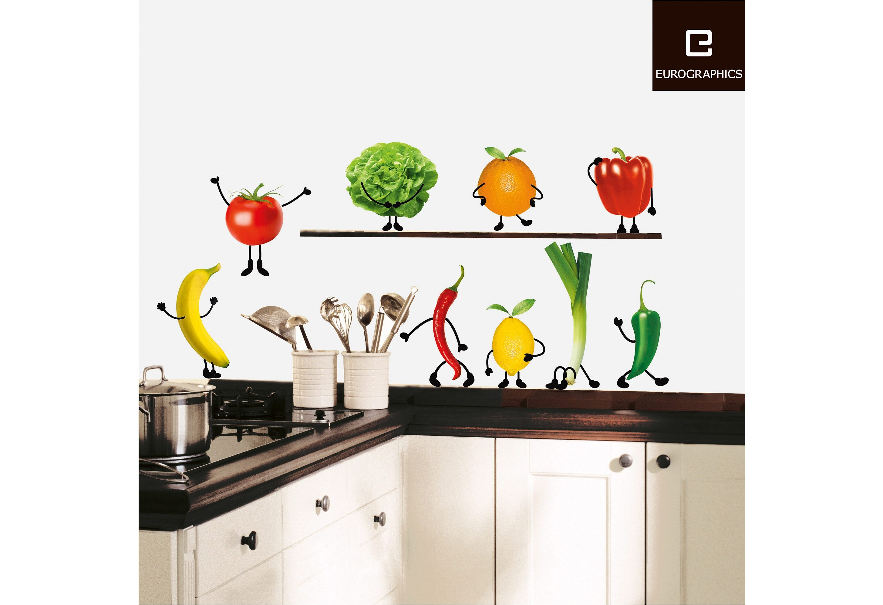 EUROGRAPHICS Deko-Sticker »Crazy Vegetable«