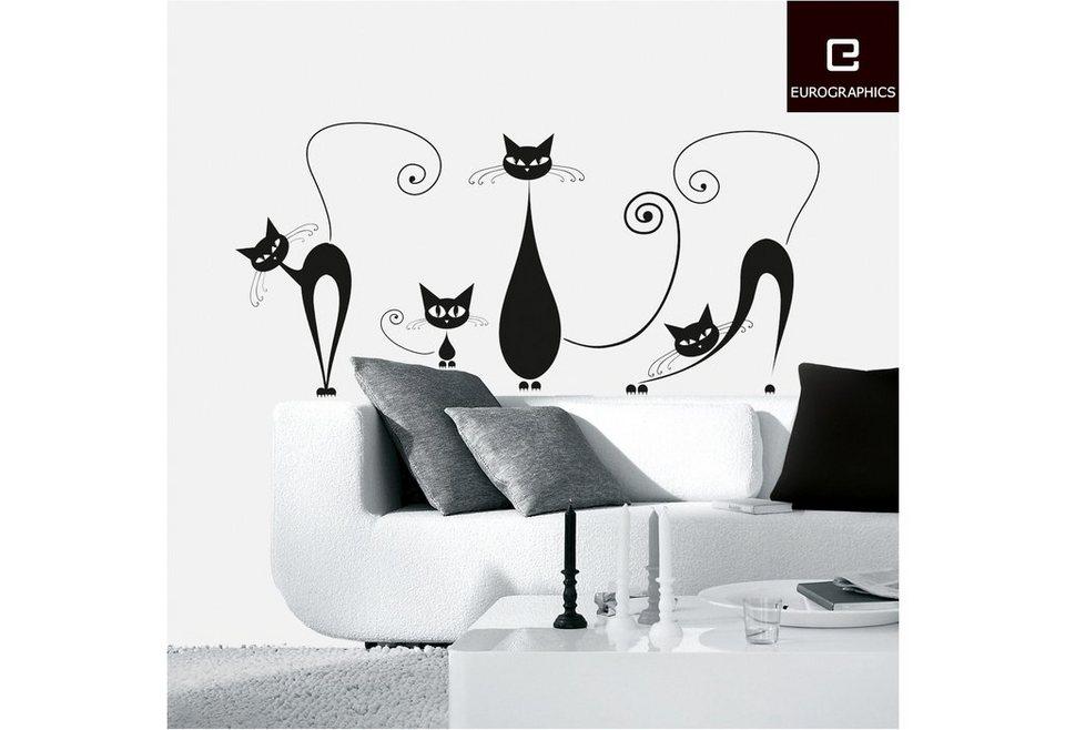 Deko-Sticker, EUROGRAPHICS, »Black Cats« in schwarz