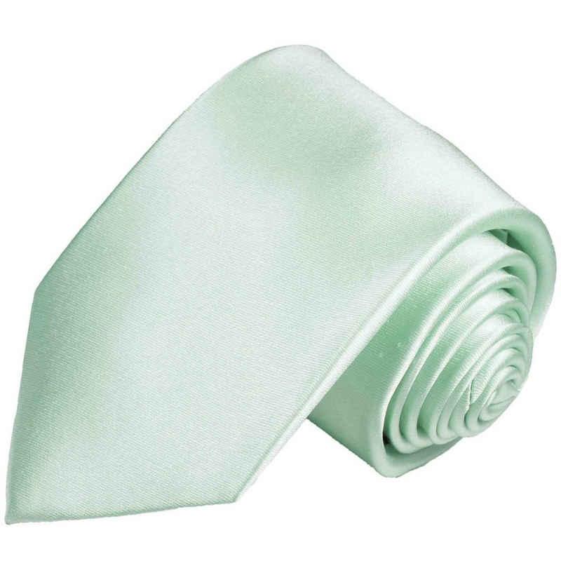 Paul Malone Krawatte »Herren Seidenkrawatte Schlips modern uni satin 100% Seide« Breit (8cm), mintgrün 488