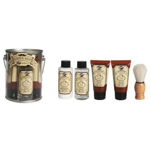 GLOSS! Geschenk-Set »Rasier-Set mit After-Shave-Balsam, Seife, Rasiergel, Gesichtspeeling«, 5-tlg.