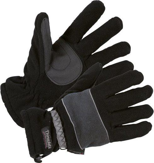 Fleecehandschuhe »0914-1060 schwarz/grau«