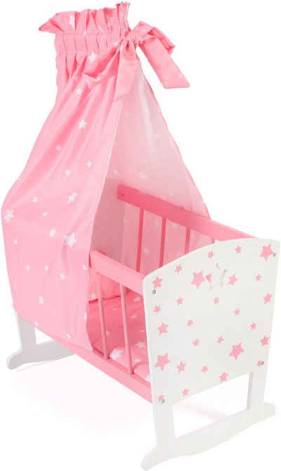 CHIC2000 Puppenwiege »Stars pink«, inkl. Himmel