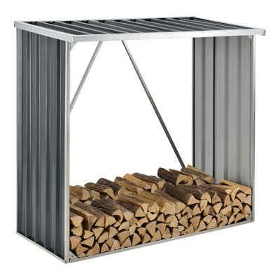 casa.pro Kaminholzregal, BxTxH:150x80x152 cm, »Kalmar« Brennholzunterstand aus Stahl Brennholzregal 156x80x152cm