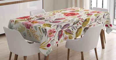 Abakuhaus Tischdecke »Personalisiert Farbfest Waschbar Für den Außen Bereich geeignet Klare Farben«, Blumen Blumen Rosen Blüten