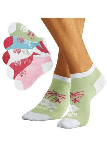 Sneakersocken5 Hawaii Weißpinkhellgrünrosa PaarIm H i s Design Farbenfrohen Nnvm0wO8