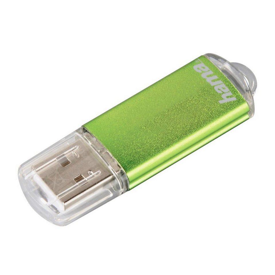 Hama USB Stick 64 GB, USB 2.0, 10MB/s, Speicherstick Grün »FlashPen mit Verschlusskappe« in Grün