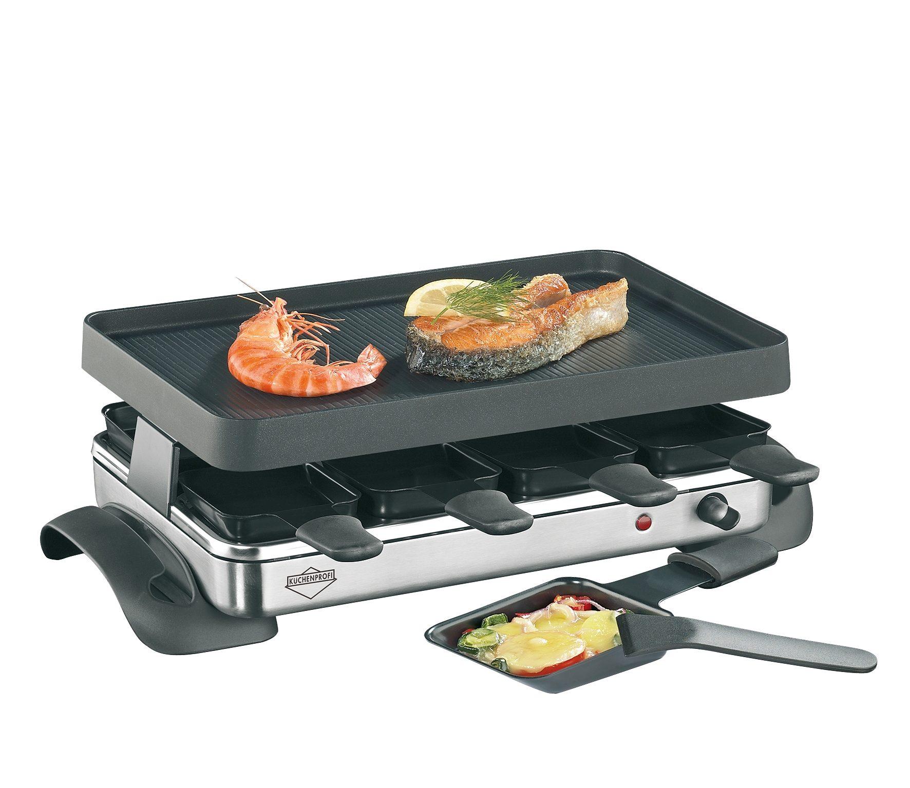 Küchenprofi Raclette mit Steinplatte und Grillplatte »Exclusive«