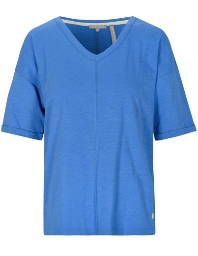 BASEFIELD T-Shirt »VANESSA« mit Flammgarn-Optik