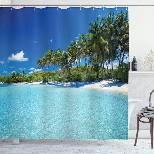 Abakuhaus Duschvorhang »Moderner Digitaldruck mit 12 Haken auf Stoff Wasser Resistent« Breite 175 cm, Höhe 180 cm, Ozean Relax Beach Resort Spa