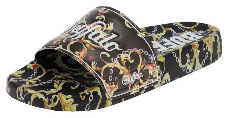 Buffalo »RUFINA Damen Sandale Schwarz Gold« Sneaker 100% VEGAN