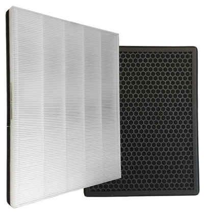 Comedes Filter-Set passend für Philips Luftreiniger AC1214/10 und AC2729/10, einsetzbar statt Philips FY1410/30 und FY1413/30, Zubehör für Passend für Philips Luftreiniger AC1214/10 und AC2729/10