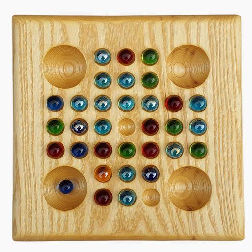 Madera Spielzeuge Spiel, Solitärspiel »Solitär Montessori«, Made in Germany