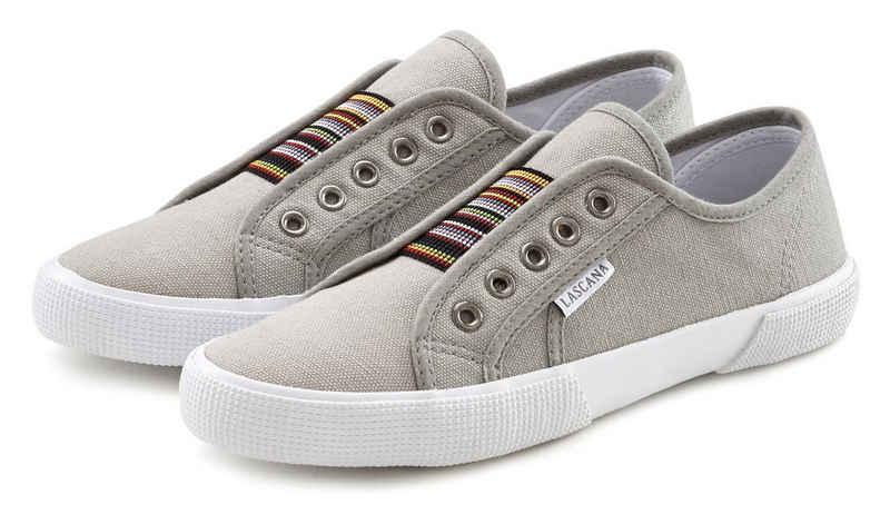 LASCANA Sneaker mit Farbkontrasten und Gummizug