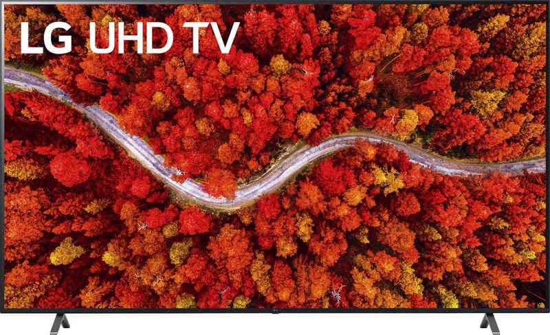 LG 86UP80009LA LCD-LED Fernseher (217 cm/86 Zoll, 4K Ultra HD, Smart-TV, (bis zu 120Hz), LG Local Contrast, α7 Gen4 4K AI-Prozessor, Sprachassistenten, Dolby Vision IQ, Dolby Atmos)