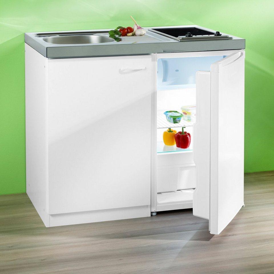 RESPEKTA Miniküche mit Glaskeramik-Kochfeld und Kühlschrank online kaufen   OTTO