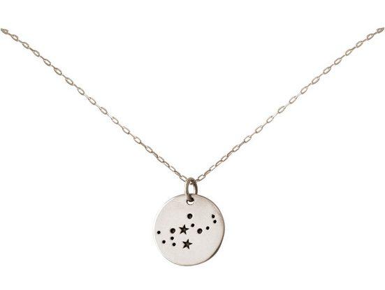 Gemshine Kette mit Anhänger »Sternzeichen Jungfrau Virgo«, 925 Silber