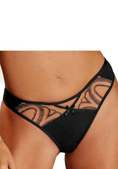 LASCANA String mit verführerischem Netzmaterial in Tattoo-Optik