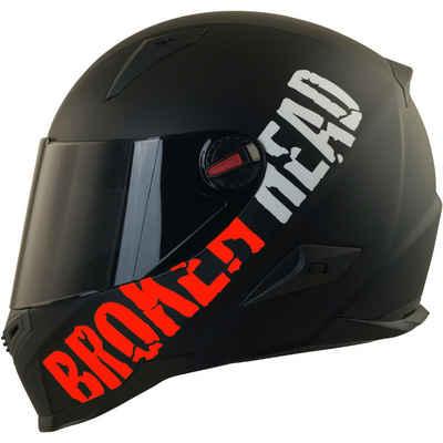 Broken Head Motorradhelm »BeProud Rot« (mit schwarzem und klarem Visier), inklusive 2 Visieren