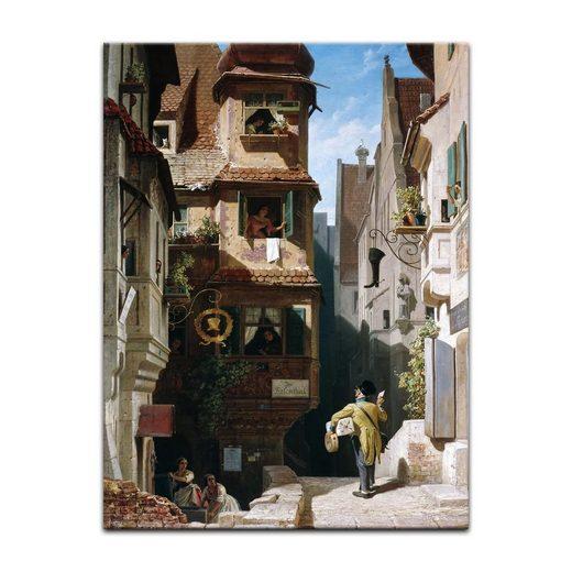Bilderdepot24 Wandbild, Carl Spitzweg - Der Briefbote im Rosenthal