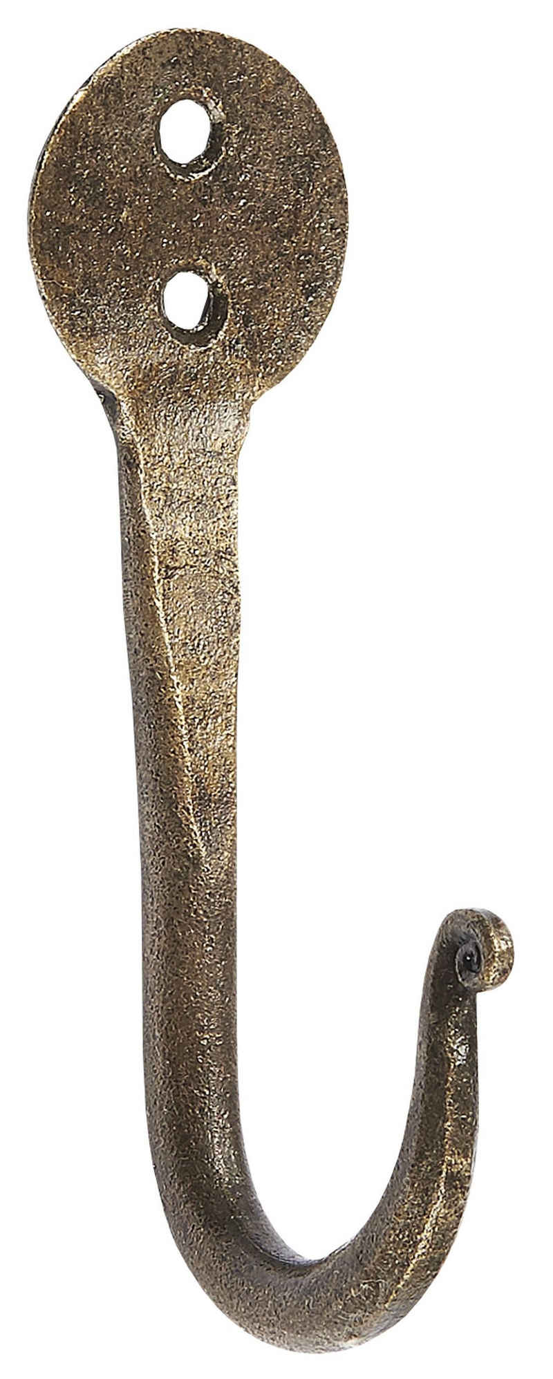 Wandhaken »Wandhaken Kleiderhaken Handtuchhaken Metall Messing Vintage Ib Laursen 0535-17«, Ib Laursen