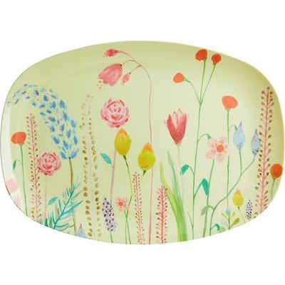 """rice Servierplatte »Melamin Servier-Teller """"Summer Flowers"""", 30x22cm«"""