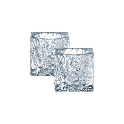 Nachtmann Kerzenhalter »Ice CubeTeelichthalter 2-tlg.« (2 Stück)