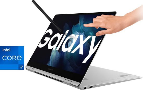 Samsung Galaxy Book Pro 360 5G Convertible Notebook (33,78 cm/13,3 Zoll, Intel Core i7, Iris© Xe Graphics, 256 GB SSD, Kostenloses Upgrade auf Windows 11, sobald verfügbar)