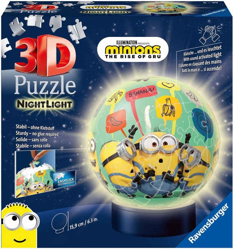 Ravensburger Puzzleball »Nachtlicht Minions 2«, 72 Puzzleteile, FSC® - schützt Wald - weltweit; Made in Europe