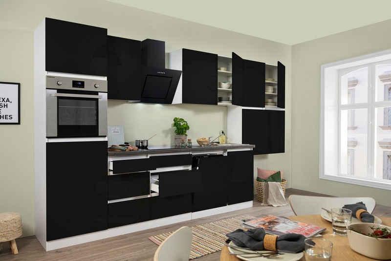 RESPEKTA Küchenzeile »Boston«, mit E-Geräten, Breite 380 cm