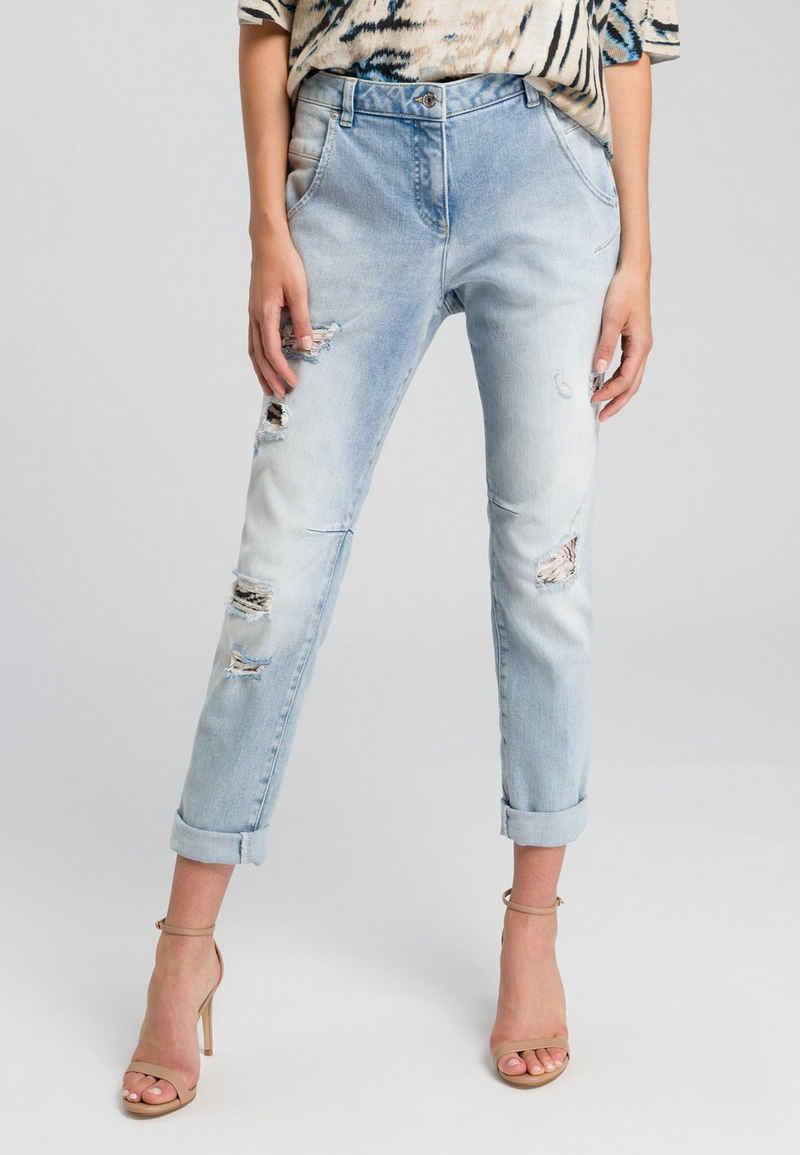 MARC AUREL 5-Pocket-Jeans aus reyceltem Denim