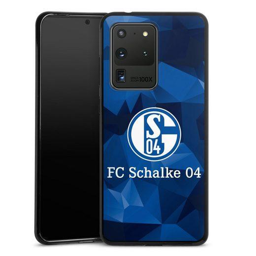 DeinDesign Handyhülle »Schalke 04 Camo« Samsung Galaxy S20 Ultra, Hülle FC Schalke 04 Muster Offizielles Lizenzprodukt