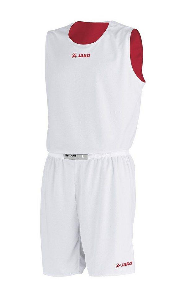 JAKO Basketball Wendeshort Change Kinder in rot/weiß