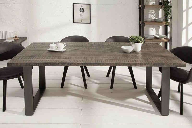 riess-ambiente Esstisch »IRON CRAFT 160cm grau«, Massivholz · Kufen-Gestell · Industrial Design · Mangoholz