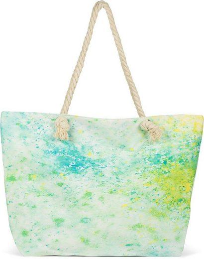styleBREAKER Strandtasche, Strandtasche Pouring Flecken Muster