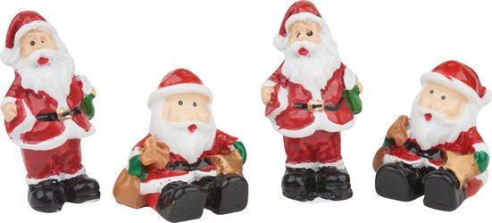 VBS Dekofigur »Weihnachtsmann Willy«, 4 Stück
