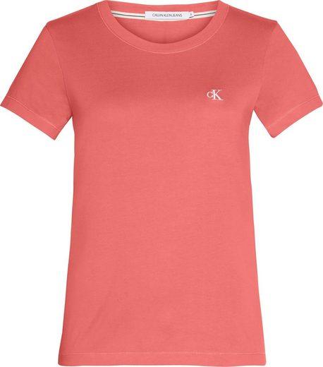Calvin Klein Jeans Rundhalsshirt »CK EMBROIDERY SLIM TEE« mit CK Monogramm-Stickerei auf der Brust